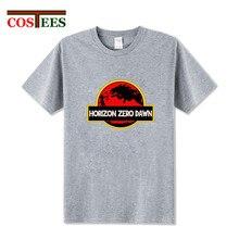 Parody Jurassic design Horizon Park T shirt men Horizon Zero Dawn Mens t-shirt punk style 2018 new fashion summer Hipster shirt