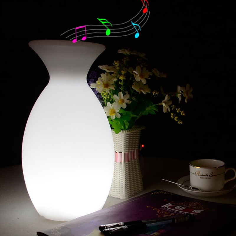 Rechargeable Bluetooth Speaker LED Night Light RGB Remote Control Table Bar Home Music Restaurant KTV Indoor Decor Lamp Fixtures enlarge