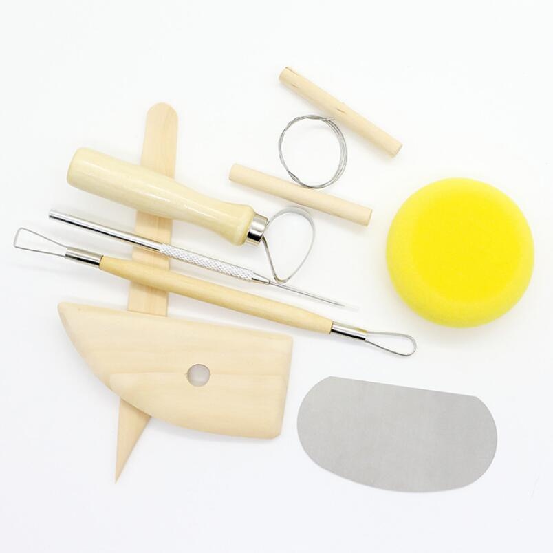 Ferramenta de Cerâmica Reutilizável Faça Você Mesmo Kit Casa Handwork Argila Escultura Cerâmica Moldagem Ferramentas Desenho Lx4919 8 Pçs – Set