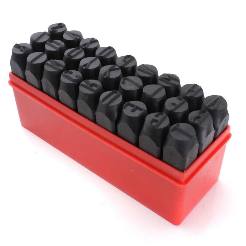 Caliente-sellos letras alfabeto conjunto golpe de Metal de acero de la herramienta estuche artesanía caliente 2mm