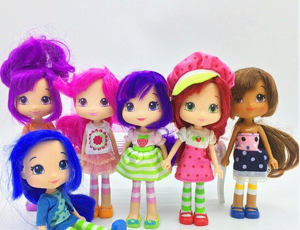 5pcs no repeat 14cm Straw berry Rush girls action figure doll PVC Shortcake Orange Blossom Lemon Meringue kids collection gift