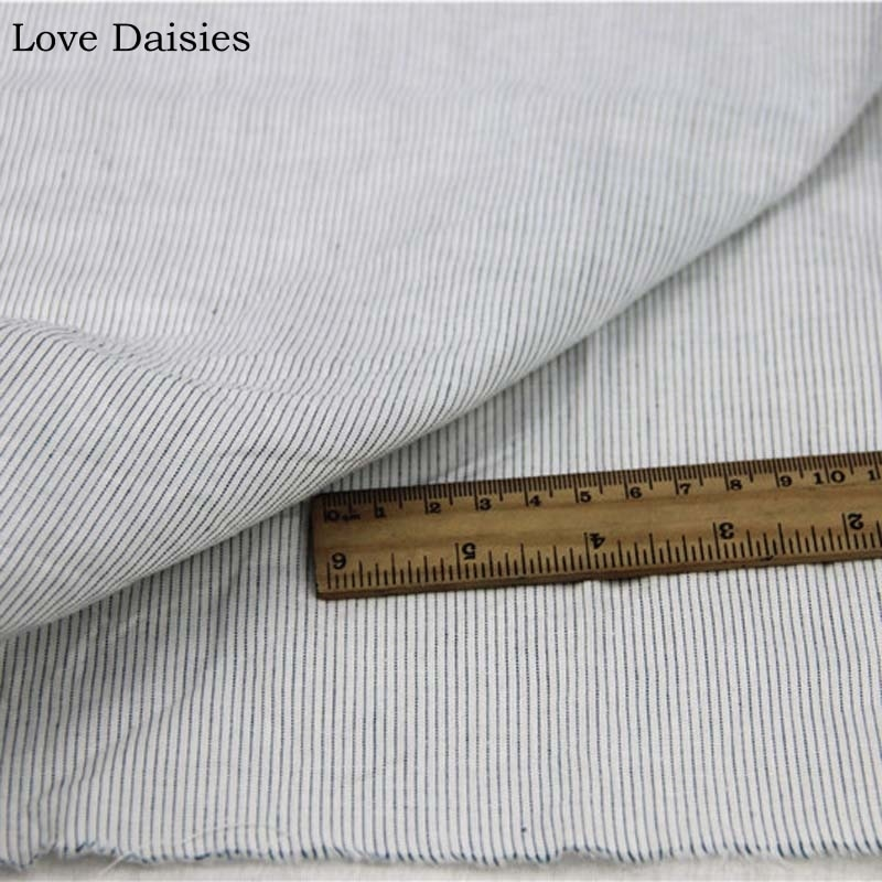 100% Cotton Yarn Dyed WHITE Dark Green Slim Stripe Thin fabric for DIY Summer Apparel Blouse Dress Shirt Handwork Craft Tissue