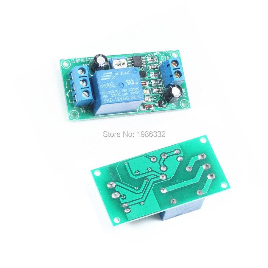 WS16 DC 10 V-14,5 V 12V conducción NE555 retardo tiempo relé módulo retardo temporizador APAGADO 1 ~ 60 segundos interruptor ajustable