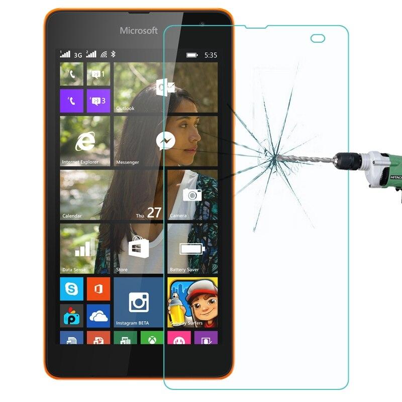 Para Microsoft Lumia 640 XL 640 535 0,26mm 9H dureza superficial 2.5D película de pantalla de vidrio templado a prueba de explosiones