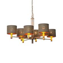 Bigman moderne chambre lustre éclairage brun abat-jour kroonluchter salle à manger salon lampe