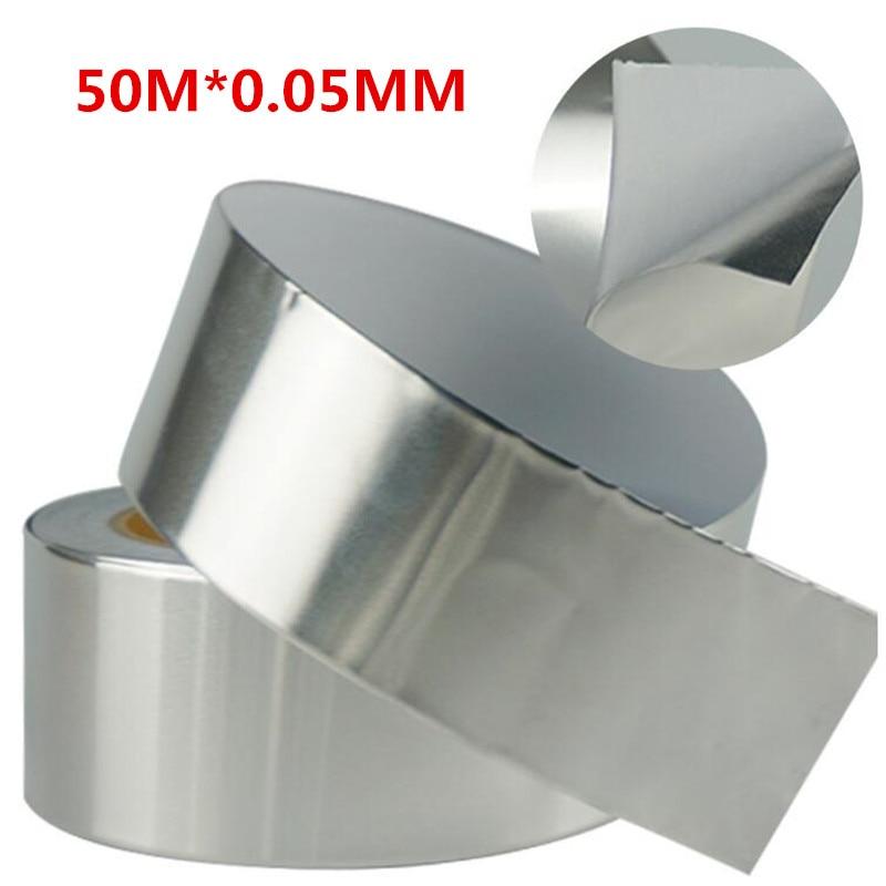 Однослойная проводящая высокотемпературная алюминиевая фольга лента Водонепроницаемый экран BGA изоляция 50 м * 0,05 мм