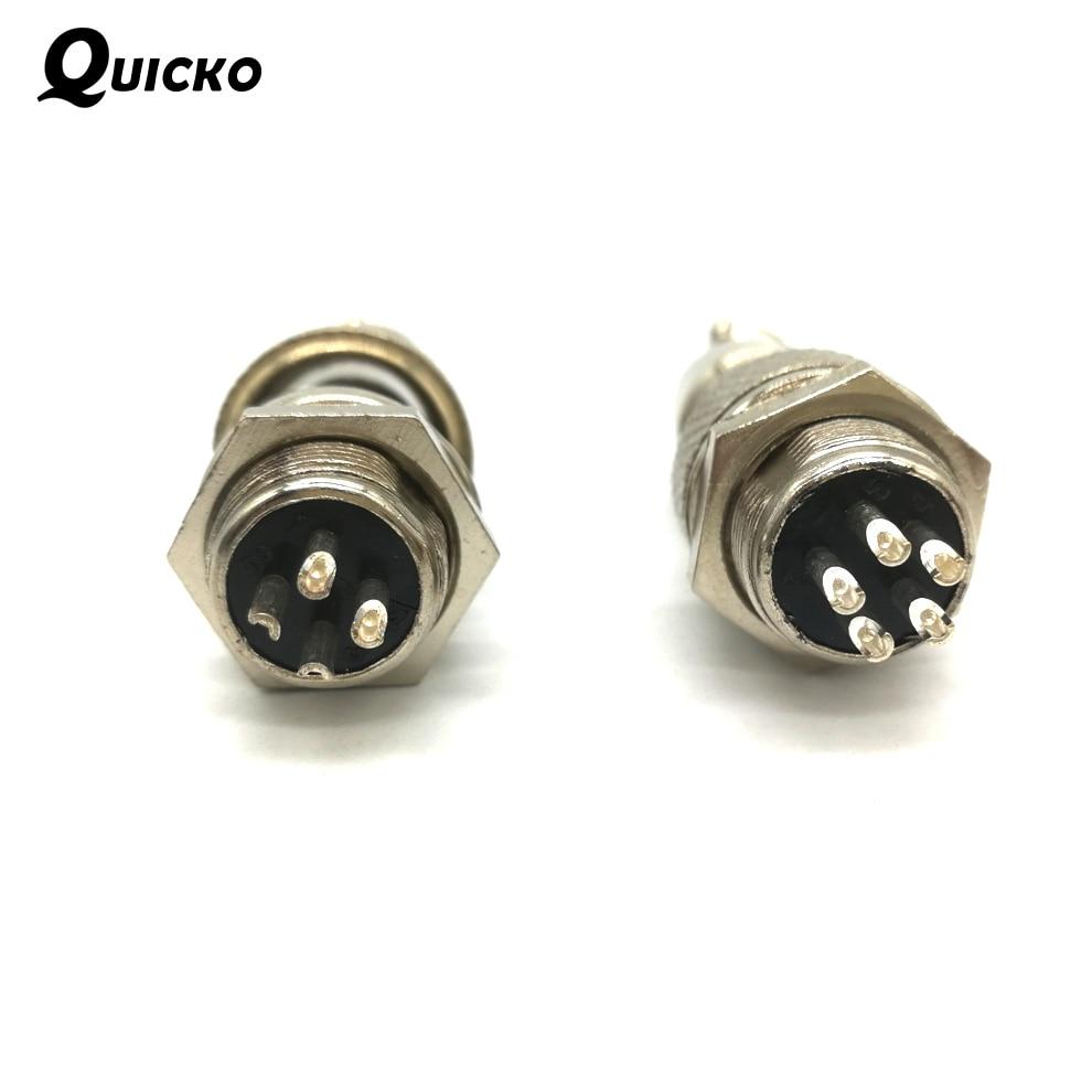 Electronic Tool Soldering Iron GX12-5 pins/GX12-4 pins Connector T12 Aviation Plug Head Mini Aviation Male DIY Soldering Kits