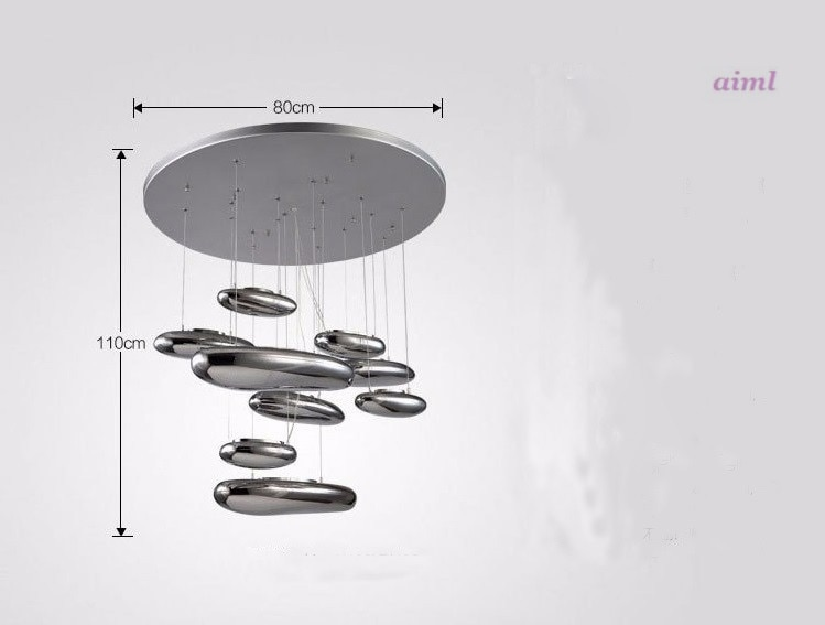 Ceiling light Space water drop mango Modern ceiling LED 80CM liquid Luminaire Science And Technology ceiling lamp  - buy with discount