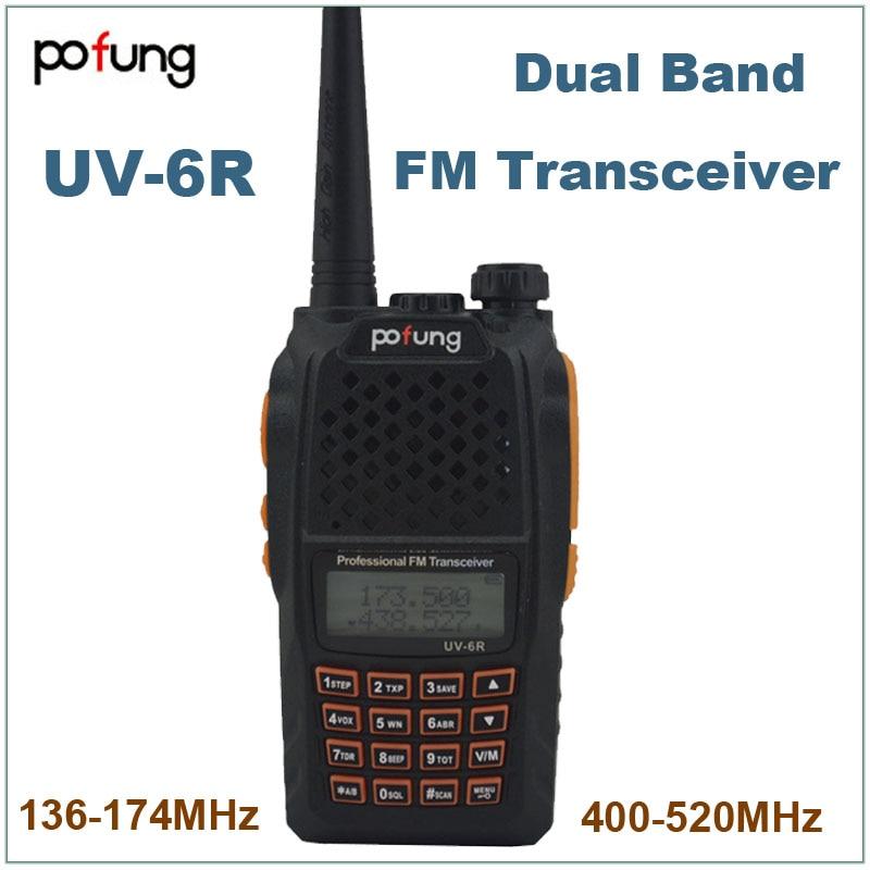 Pofung Baofeng UV-6R UV6R двухдиапазонный УКВ 136-174 МГц и 400-520 МГц двухстороннее радио UV 6R водонепроницаемый УКВ радио FM рация