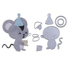 Cute Male Mouse Metal Cutting Dies Stencil for DIY Scrapbooking Photo Album Embossing Paper Card Decorative Craft Die Cuts 6.5cm