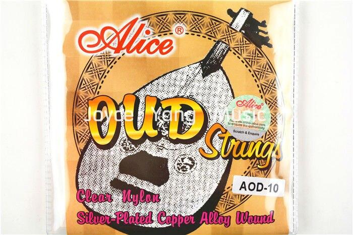 Alice AOD-10/11/12 cuerdas OUD claro Nylon plateado aleación de cobre herida 10-11- de 12 cuerdas envío gratis Venta al por mayor