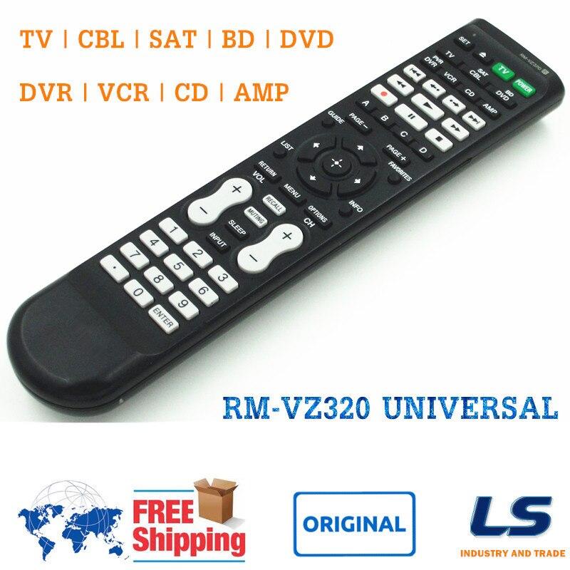 Control remoto Universal ORIGINAL para SONY RM-VZ320 apto para Receptor AV/reproductor de disco Blu-Ray/caja de Cable/VCR/DVD/Combo