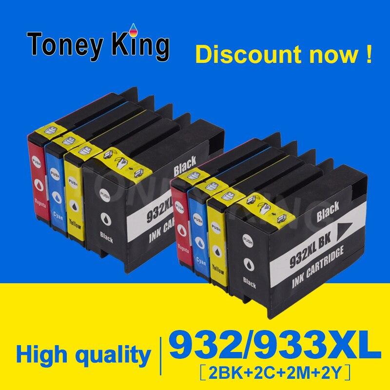 Toney rey Compatible 932XL 933XL 932 933 cartucho de tinta compatible para hp Oficina jet 6100, 6600, 6700, 7110, 7610, 7612 impresora 4