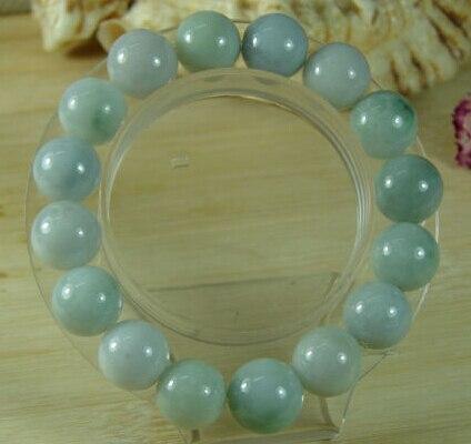 Venta al por mayor de joyería, pulsera de Jade con cuentas verdes de grado Natural, jadeíta, Esmeralda, Feicui
