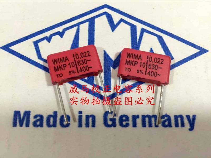 2019 hot sale 10pcs/20pcs German capacitor WIMA MKP10 630V 0.022UF 630V 223 22nf P: 15mm Audio capacitor free shipping