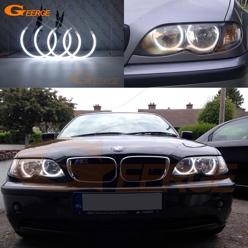 Para BMW E46 318i 323i 325i 328i 330i 325xi 330xi lámparas halógenas 1999-2004 Ultra brillante iluminación CCFL Ángel los ojos kit