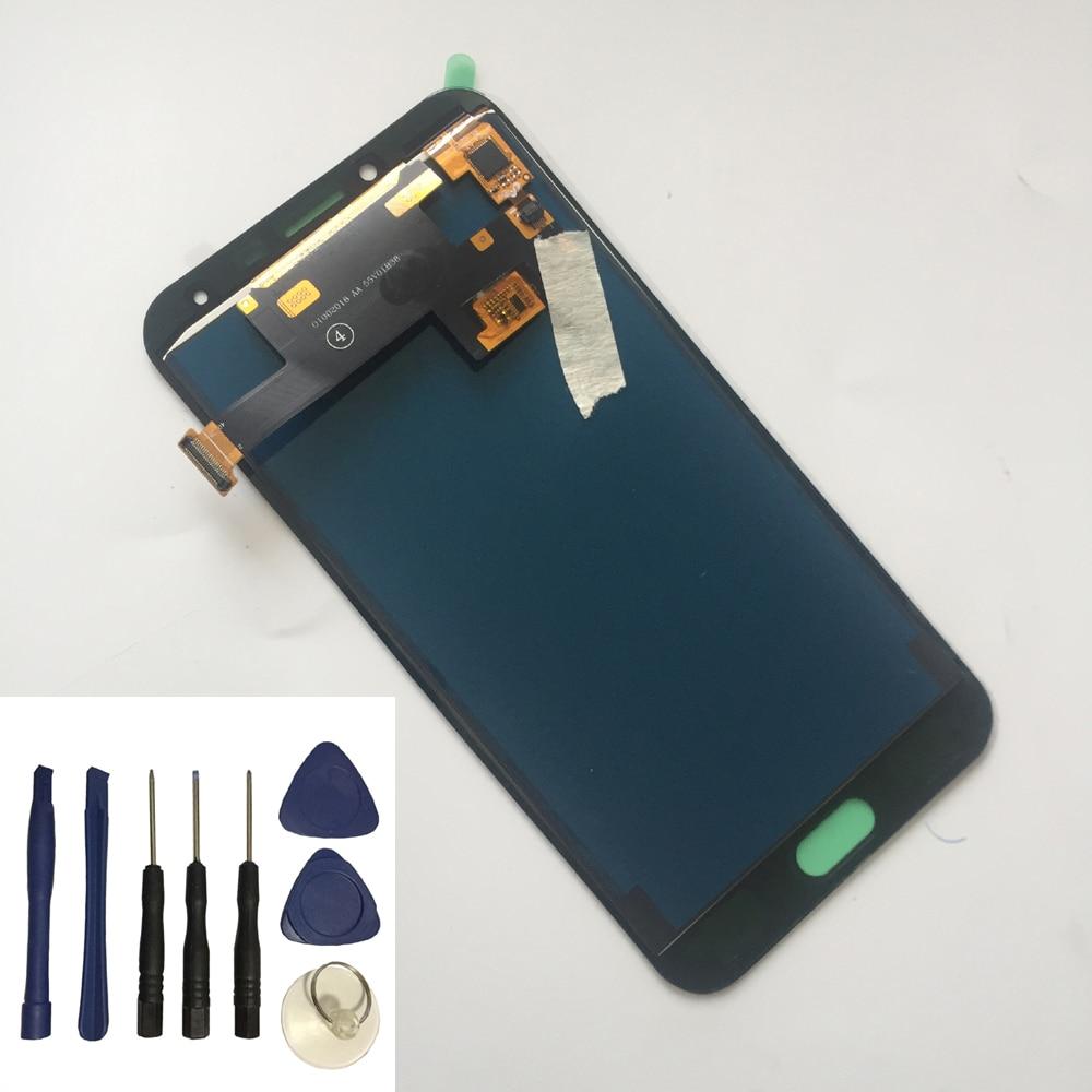 Brillo ajustable para Samsung Galaxy J4 J400 sm-j400f J400H J400G/DS pantalla táctil + conjunto de pantalla LCD + herramientas gratis