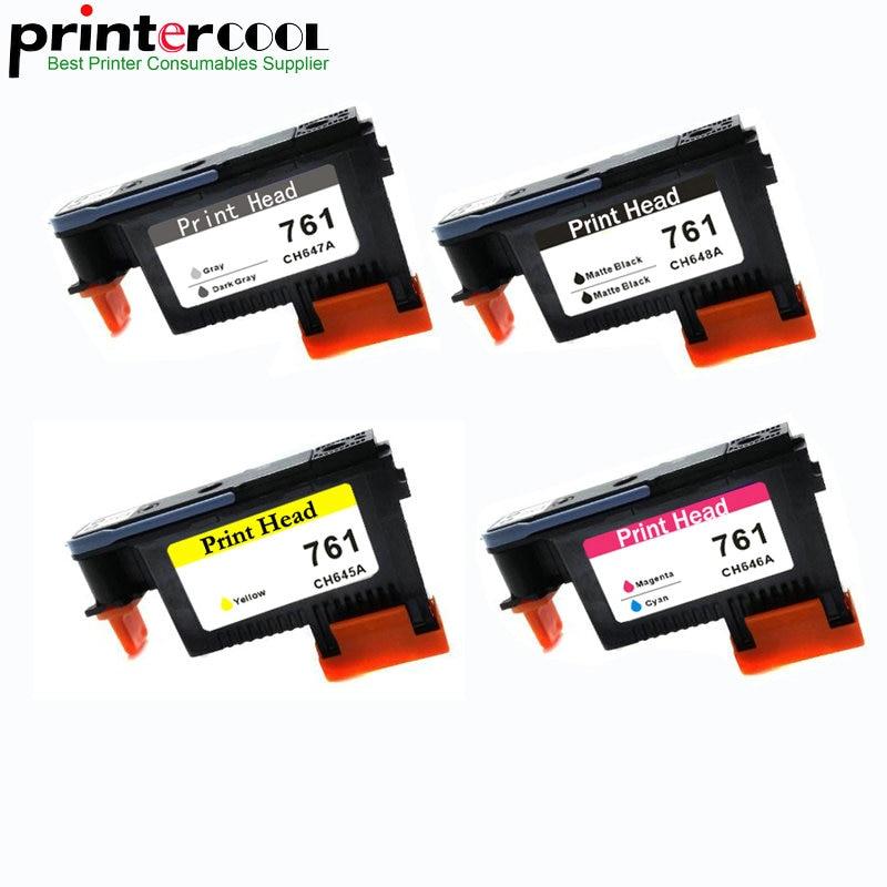 Einkshop 761 طباعة رئيس استبدال ل HP 761 ل ديزاين T7100 T7200 رأس الطباعة CH645A CH646A CH647A CH648A