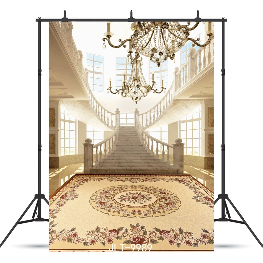 Palace Staircase Vinyl Photographic Background  for Wedding Party Portrait Children Baby Backdrop Photocall Photo Booth Studio