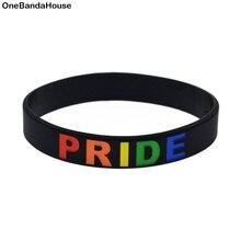 OBH 50 pièces 1/2 pouces de large Gay Pride Silicone caoutchouc bracelet bijoux