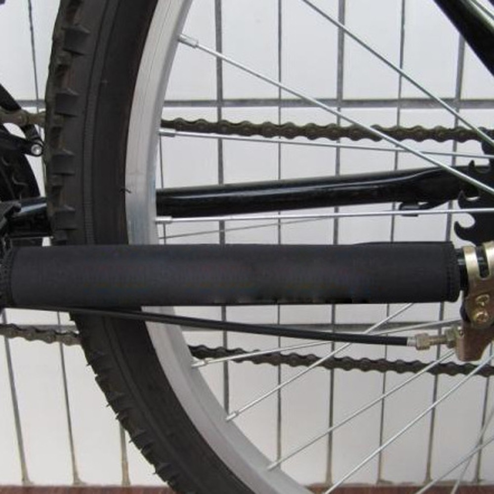 2 x bicicleta cadena permanecer informado Protector negro poliéster Protector de cadena protección accesorios ciclismo Dropshipping. Exclusivo. Z0701