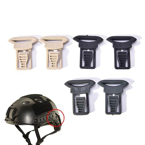 2 Pcs Goggle Swivel Clips Set Für Helm Seite Schienen Airsoft Tactical Helme Zubehör Helm Kunststoff Seite Montieren