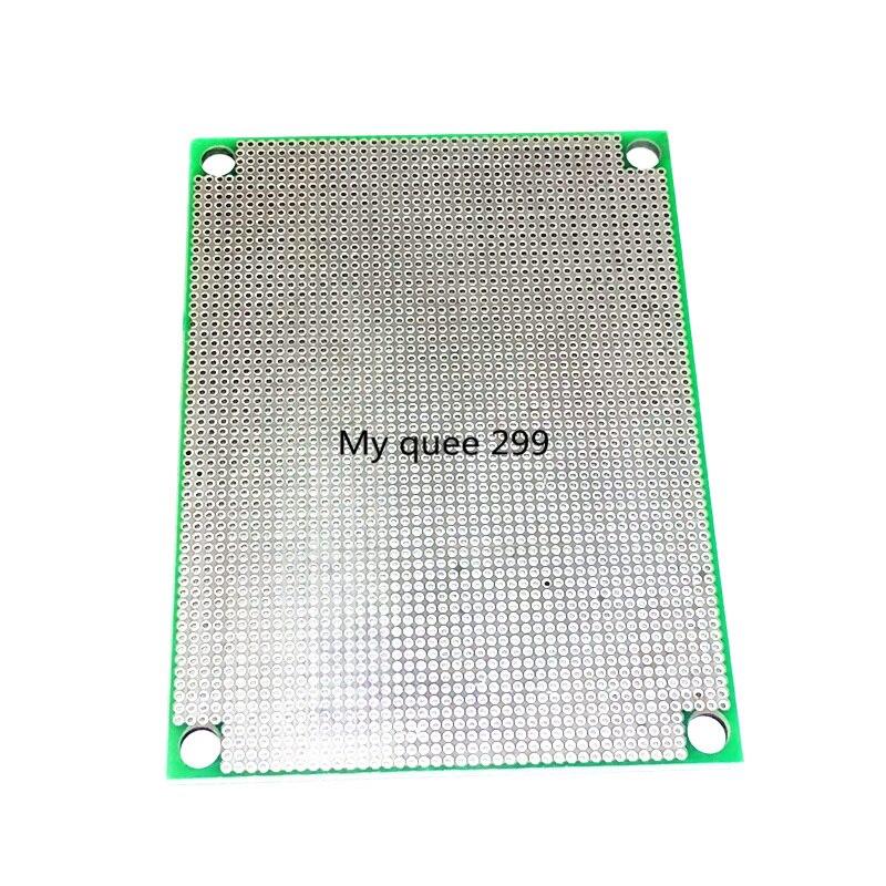 5 unids/lote 6X8 CM espaciado 1,27 placa universal de 1,6mm de espesor de HASL prueba de PCB Junta