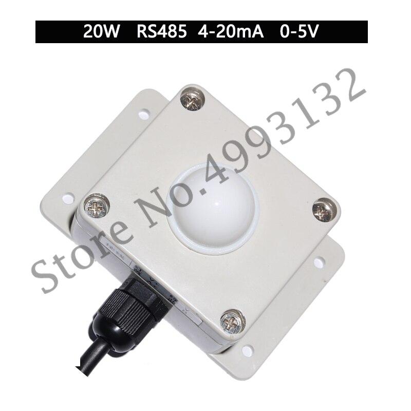 Medidor de iluminación de corriente del Sensor de iluminación RS485, el transmisor de iluminación de voltaje se puede conectar a la configuración del PLC