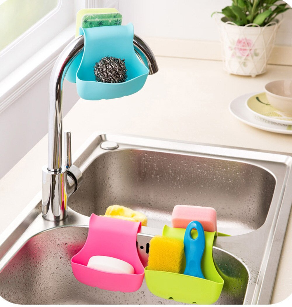 Double Sink Caddy Saddle Style Kitchen Organizer Storage Sponge Holder Rack High-quality Tool Home & Garden