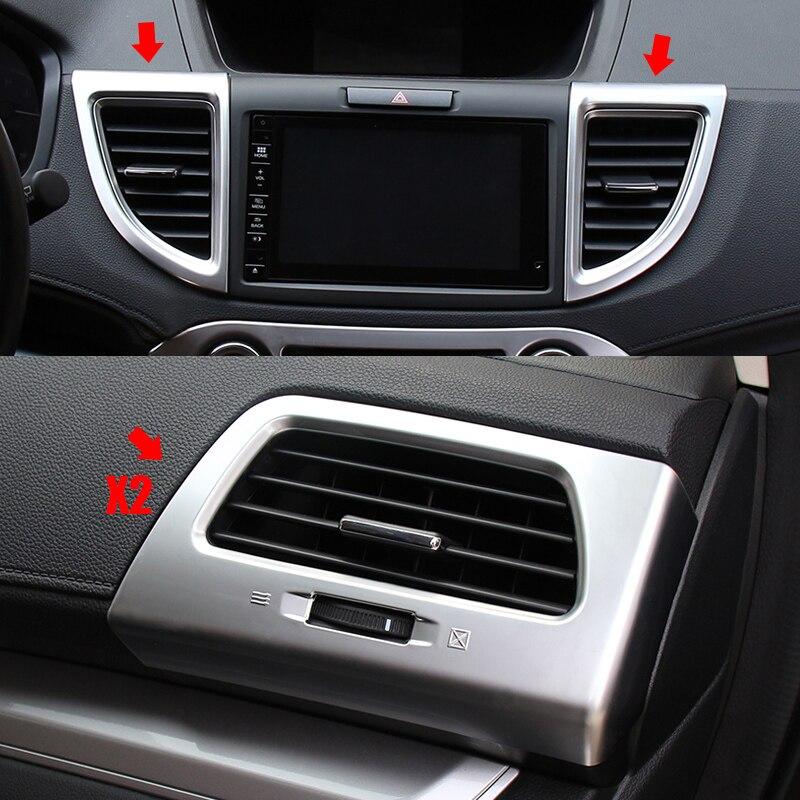 Para Honda CRV CR-V 2012 2013 2014 2015 2016 ABS cromo Interior aire acondicionado cubierta de salida de ventilación embellecedores Accesorios