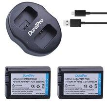 2 قطع NP-FW50 NP FW50 بطارية الكاميرا + شاحن USB مزدوج لسوني A5000 A5100 A7R A6000 5 طن 5C 3N A7 NEX6 NEX7 NEX5TL NEX5R NEX5N
