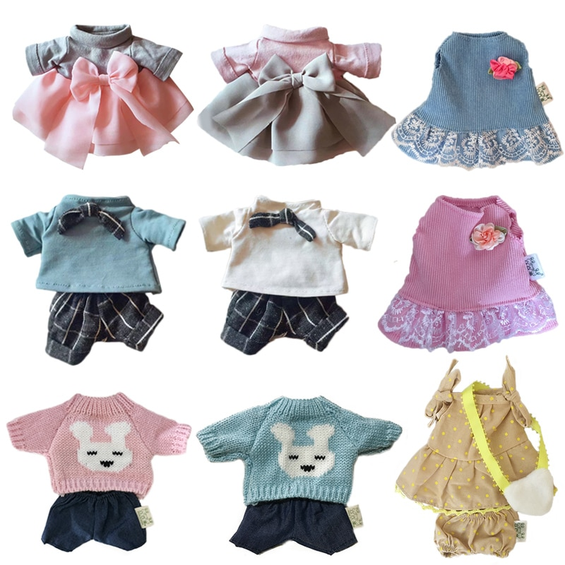 30cm Doll Clothes for Rabbit/Cat/Bear Plush Toys Dress Skirt Sweater Clothes Accessories for 1/6 BJD