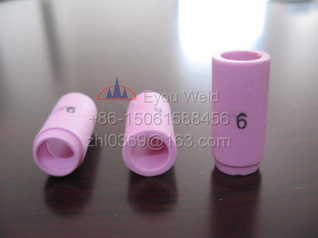 10pcs 13N10 6# Nozzle For Welding Torch WP9 WP20 - ceramic TIG Welding Consumables WP-9 WP-20 недорого