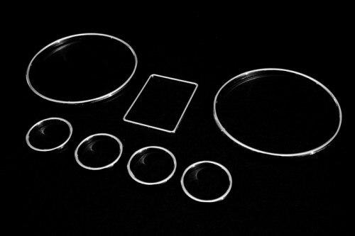 Cromo velocímetro calibre dial anéis moldura guarnição para audi a3 8l a4 8d b5 a6 c5 4b