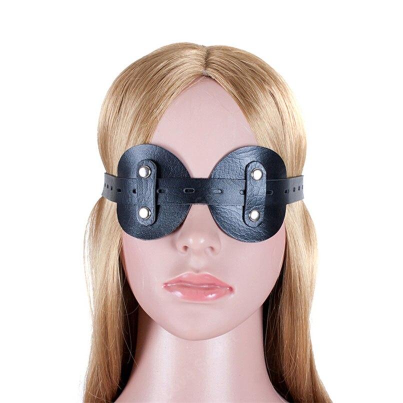 Очки круглая повязка на глаза маска из мягкой кожи привлекательный товар для