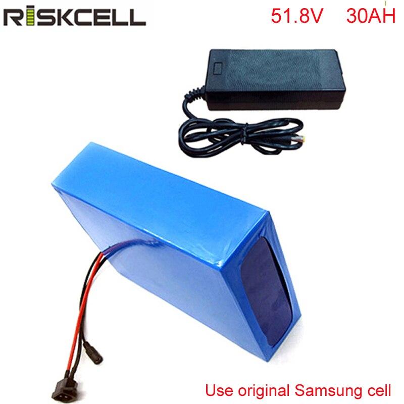 Bafang-batería de litio para bicicleta eléctrica, 52V, 30Ah, 48V, 14S, 1000W
