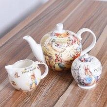 English afternoon tea set black tea pots European style filter with bone china coffee with sugar milk tank
