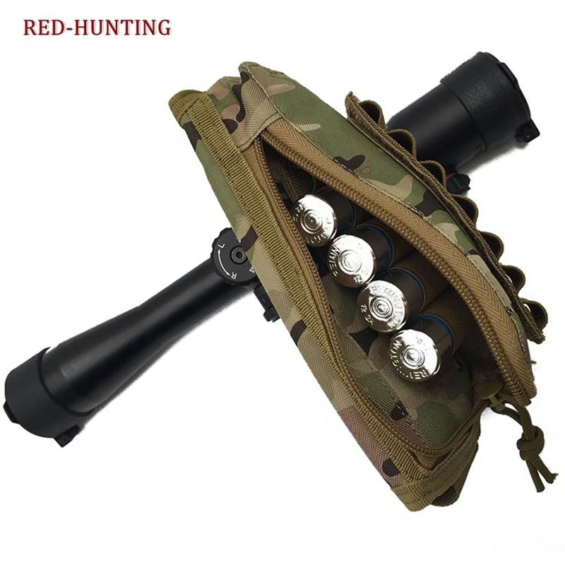 Pistola de caza Airsoft, culata, reposacabezas, Rifle, Stock, munición, carcasa, nailon táctico, revista, Molle, funda cartuchera