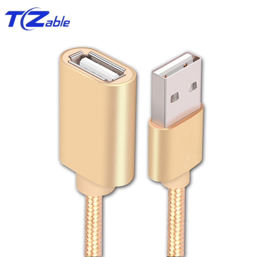Cable de extensión USB 2,0 macho a hembra 0,5 m 1m 2m 3m línea de conexión para PC ordenador portátil U disco ratón USB Cable de extensión