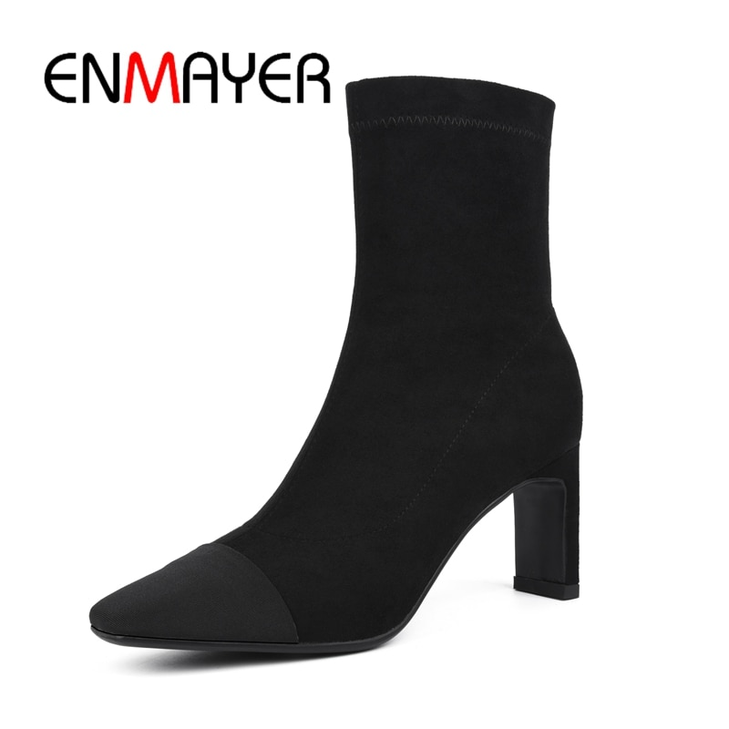 ENMAYER/Классическая обувь на тонком каблуке с квадратным носком без застежки