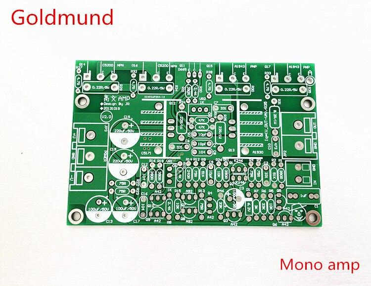 Плата усилителя pcb mono goldmund tube 2sa1943 2scC5200, регулируемый выход, дискретный задний усилитель goldmund, бесплатная доставка