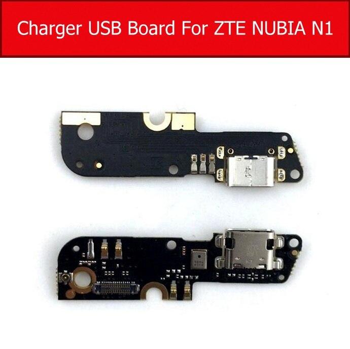 Placa de carga de micrófono y USB para ZTE Nubia N1 NX541J enchufe cargador USB módulo conector reemplazo de cable flexible repuestos