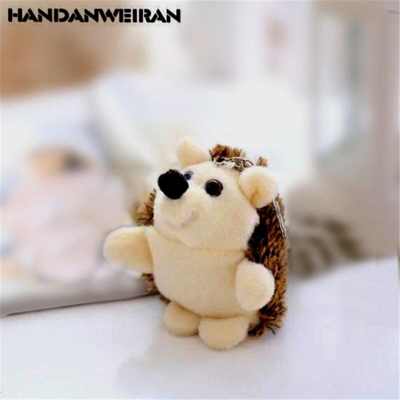 Милый плюшевый ежик, 1 шт., Маленькая подвеска, творческие мягкие мини-игрушки с животными, подарок для девочек на день рождения, 10 см, HANDANWEIRAN