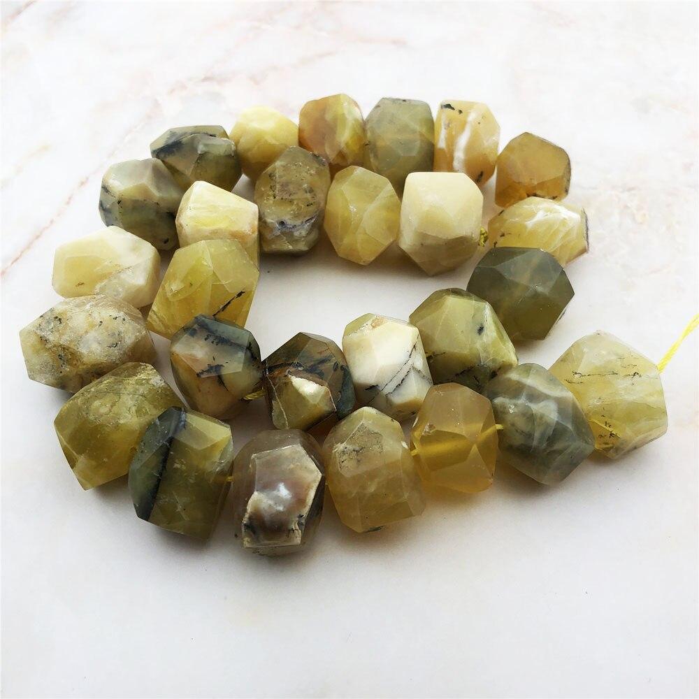 Piedras preciosas facetadas ópalo amarillo Natural Rondelle Nugget Freeform cuentas sueltas al por mayor