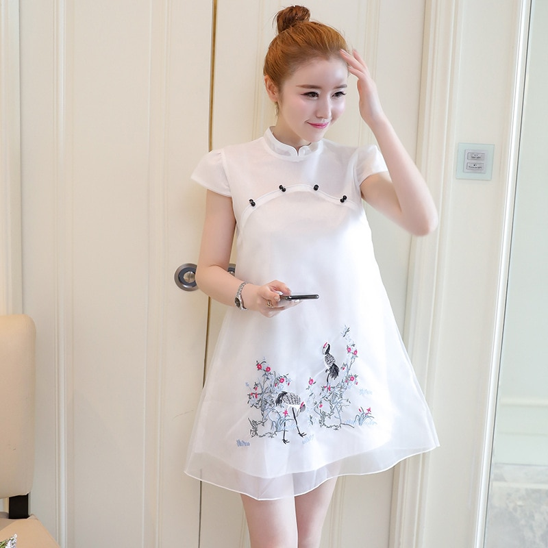 Maternity Nursing Dresses for Pregnant Embroidey Pregnancy Women's Clothing Mother Retro Tide Casual для беременных enlarge