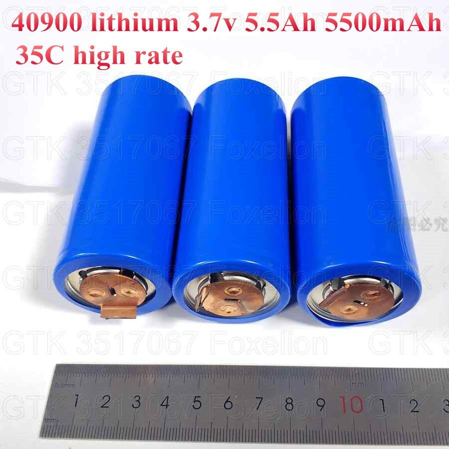 3 uds 40900 lithium 3,7 v 5.5Ah 5500mah 5ah batería lipo li-ion 30C Alta tasa 50C para diy 12v arrancador de batería de coche herramientas eléctricas