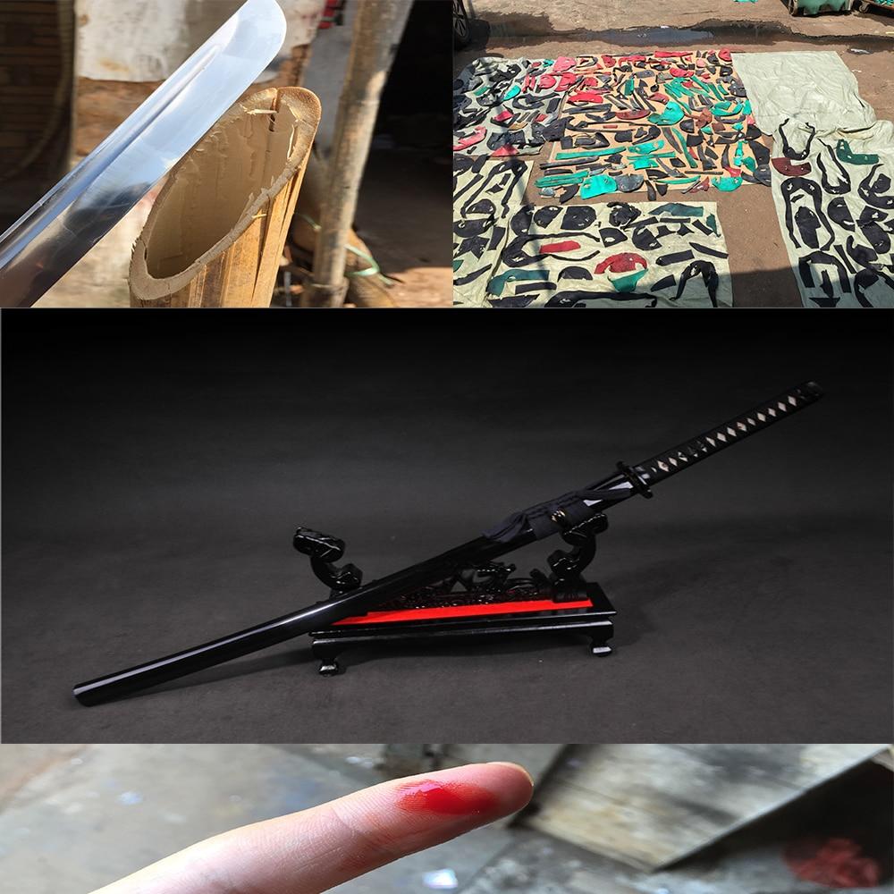 handmade katanas samurai japanese sword real katana swords for sale sharp black Combat