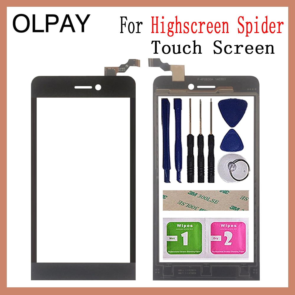 5.0'' Mobile Phone For Highscreen Spider Touch Screen Digitizer Panel Front Glass Lens Sensor Free T