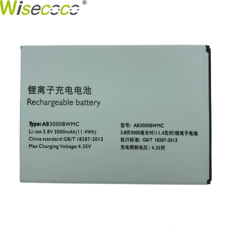 Wisecoco 2 piezas nueva batería Original de 3000 mAh AB3000BWMC para Philips Xenium I928 Smartphone de alta calidad en Stock + seguimiento número