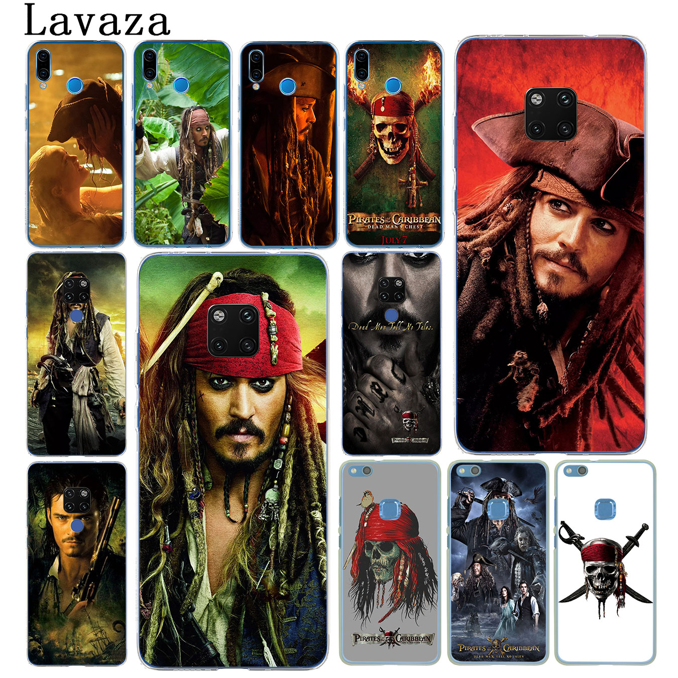 Lavaza Pirates of the Caribbean Johnny Depp Phone Case for Huawei Mate 30 20 Pro 10 Lite Y6 Prime Nova 5I 4 3i 3 2i 2 Lite Cover